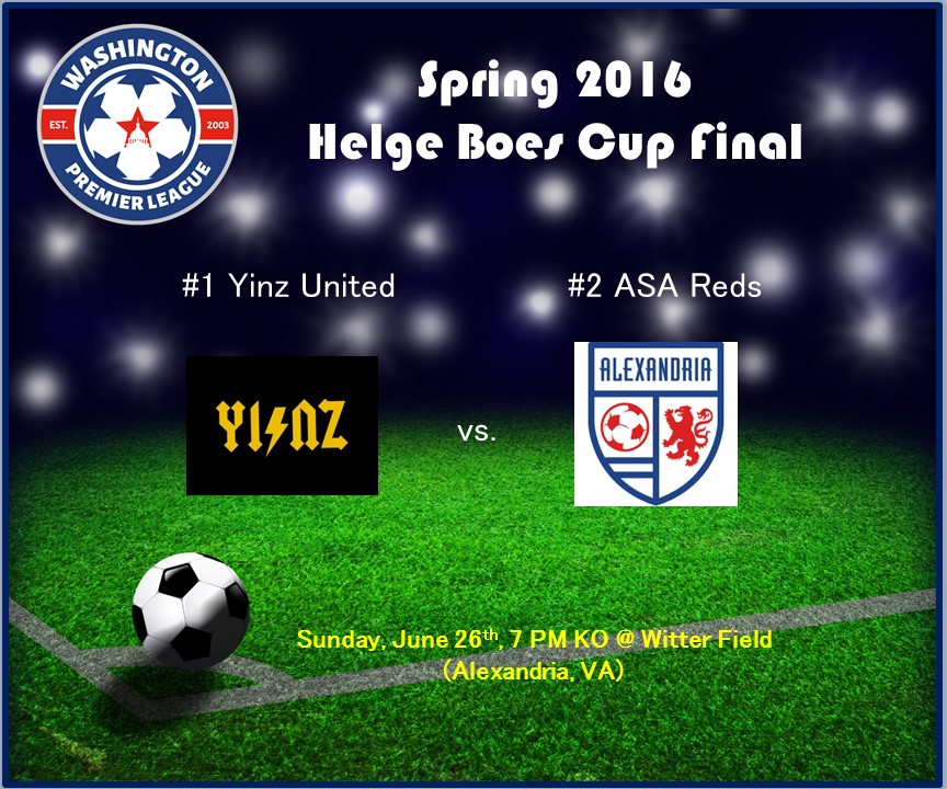#1 Yinz United, #2 ASA Reds Win Semis and Face Off in Spring 2016 Helge Boes Cup Final